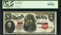 Large Size:Legal Tender Notes, Fr. 91 $5 1907 Legal Tender PCGS Very Fine 30PPQ.. ...