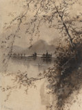Works on Paper, Frank Reaugh (American, 1860-1945). Lake View. Watercolor on paper. 5-1/2 x 4-1/2 inches (14.0 x 11.4 cm) (sight). Signe...