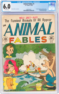 Animal Fables #1 (EC, 1946) CGC FN 6.0 Off-white pages