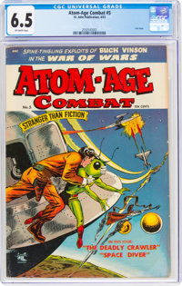 Atom-Age Combat #5 (St. John, 1953) CGC FN+ 6.5 Off-white pages