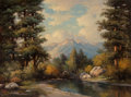Paintings, Robert William Wood (American, 1889-1979). In the Grand Tetons. Oil on canvas. 30 x 40 inches (76.2 x 101.6 cm). Signed ...