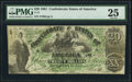 Confederate Notes:1861 Issues, T17 $20 1861 PF-1 Cr. 99 PMG Very Fine 25.. ...