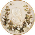 """Political:Memorial (1800-present), James A. Garfield: Awesome Porcelain Charger. 14"""" ..."""