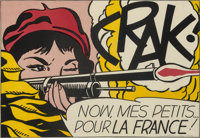 Roy Lichtenstein (1923-1997) CRAK!, 1964 Offset lithograph in colors on wove paper 18-3/4 x 27-1/