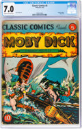 Golden Age (1938-1955):Classics Illustrated, Classic Comics #5 Moby Dick - Original Edition (Gilberton, 1942) CGC FN/VF 7.0 Cream to off-white pages....