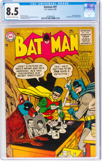 Batman #97 (DC, 1956) CGC VF+ 8.5 Off-white to white pages