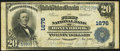 National Bank Notes:Pennsylvania, Honeybrook, PA - $20 1902 Plain Back Fr. 652 The First National Bank Ch. # 1676 Fine-Very Fine.. ...