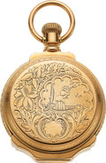 Timepieces:Pocket (pre 1900) , Elgin 14k Gold 16 Size Box Hinge Hunters Case, circa 1895