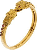 Estate Jewelry:Bracelets, Ruby, Gold Bracelet, Lalaounis. ...