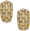 Diamond, Gold Earrings, Cartier, French