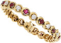 Estate Jewelry:Bracelets, Ruby, Diamond, Gold Bracelet, Hammerman Bros.. ...