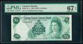 Cayman Islands Currency Board 5 Dollars 1971 (ND 1972) Pick 2a PMG Superb Gem Unc 67 EPQ
