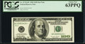 Fr. 2175-K* $100 1996 Federal Reserve Star Note. PCGS Choice New 63PPQ
