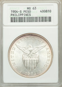 Philippines: USA Administration Peso 1904-S MS63 ANACS