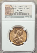 Canada: George V gold 10 Dollars 1914 MS64 NGC