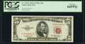 Small Size:Legal Tender Notes, Fr. 1533* $5 1953A Legal Tender Star Note. PCGS Gem New 66PPQ.. ...