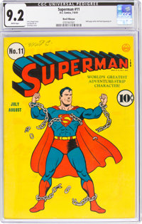 Superman #11 Recil Macon Pedigree (DC, 1941) CGC NM- 9.2 White pages
