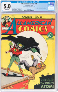 All-American Comics #19 (DC, 1940) CGC VG/FN 5.0 Off-white pages