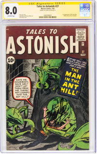 Tales to Astonish #27 Signature Series - Stan Lee (Marvel, 1962) CGC VF 8.0 Off-white pages