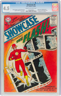 Silver Age (1956-1969):Superhero, Showcase #4 The Flash (DC, 1956) CGC VG+ 4.5 Cream to off-white pages....