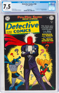 Detective Comics #168 (DC, 1951) CGC VF- 7.5 White pages