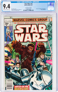 Star Wars #3 35¢ Price Variant (Marvel, 1977) CGC NM 9.4 Off-white to white pages