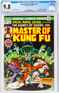 Special Marvel Edition #15 Master of Kung Fu (Marvel, 1973) CGC NM/MT 9.8 Off-white to white pages