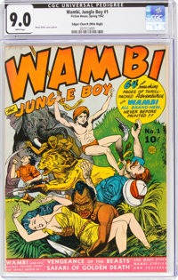 Wambi the Jungle Boy #1 Mile High Pedigree (Fiction House, 1942) CGC VF/NM 9.0 White pages
