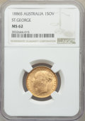 "Australia: Victoria gold ""St. George"" Sovereign 1886-S MS62 NGC"