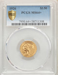 Indian Quarter Eagles, 1926 $2 1/2 MS64+ PCGS. PCGS Population: (3022/877). NGC Census: (3512/635). MS64. Mintage 446,000....