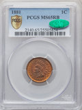 1881 1C MS65 Red and Brown PCGS. CAC. PCGS Population: (116/12 and 5/0+). NGC Census: (114/26 and 0/0+). CDN: $425 Whsle...