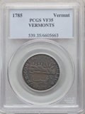 1785 VERMNT Vermont Copper, VERMONTS VF35 PCGS. PCGS Population: (6/16). NGC Census: (5/11). ...(PCGS# 539)