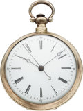 Timepieces:Pocket (pre 1900) , Bovet Silver Cased Duplex For The Chinese Market, circa 18...