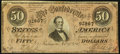 Confederate Notes:1864 Issues, T66 $50 1864 PF-1 Cr. 495 Very Fine-Extremely Fine.. ...