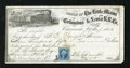 Obsoletes By State:Ohio, Cincinnati, OH- Little Miami Columbus & Xenia R.R. Co. $950.15Sight Draft Sep. 29, 1863. What else but a vignette of a trai...