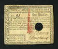 Colonial Notes:Massachusetts, Massachusetts May 5, 1780 $1 Extremely Fine-About New, HOC. Thishole cancelled example has some red ink overrun....