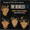 """Music Memorabilia:Recordings, Beatles """"Souvenir Of Their Visit To America"""" EP (Vee-Jay 903, 1964). Rarer black label with bold silver logo. Check it out o..."""