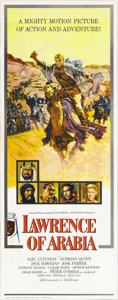 "Movie Posters:Academy Award Winner, Lawrence of Arabia (Columbia, 1962). Insert (14"" X 36""). Without adoubt, David Lean's account of the adventures of T. E. La..."