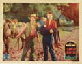 "Movie Posters:Western, The Lawless Frontier (Monogram, 1934). Lobby Card (11"" X 14""). This is one of the better cards from this early John Wayne fi..."
