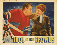 "Idol of the Crowds (Universal, 1937). Lobby Card (11"" X 14""). Republic producers Trem Carr and Paul Malvern we..."