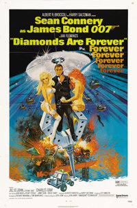 """Diamonds Are Forever (United Artists, 1971). One Sheet (27"""" X 41""""). The last official outing of Sean Connery i..."""