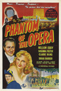 "Movie Posters:Horror, Phantom of the Opera (Universal, 1943). Australian One Sheet (27"" X40""). This Technicolor retelling of the Gaston Leroux ""g..."