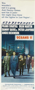 "Movie Posters:Crime, Ocean's 11 (Warner Brothers, 1960). Insert (14"" X 36""). FrankSinatra, Dean Martin, Sammy Davis Jr., Peter Lawford, and the ..."