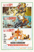 "Movie Posters:James Bond, Thunderball (United Artists, 1965). One Sheet (27"" X 41""). Thisfourth installment in the James Bond series won an Oscar for..."