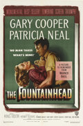 "Movie Posters:Drama, The Fountainhead (Warner Brothers, 1949). One Sheet (27"" X 41"").Gary Cooper stars as architect Howard Roarke in this versio..."