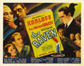 "Movie Posters:Horror, The Raven (Universal, 1935). Half Sheet (22"" X 28"") Style B. Fromthe New Zealand collection comes one of the true gems of h..."