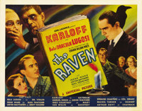 """The Raven (Universal, 1935). Half Sheet (22"""" X 28"""") Style B. From the New Zealand collection comes one of the..."""