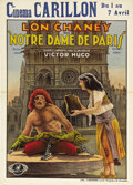 "Movie Posters:Horror, The Hunchback of Notre Dame (Universal, 1923). Pre-War Belgian (24""X 33.25""). With his success in ""The Hunchback of Notre D..."