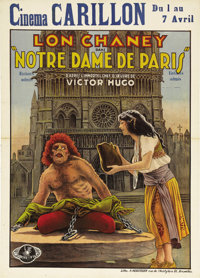 """The Hunchback of Notre Dame (Universal, 1923). Pre-War Belgian (24"""" X 33.25""""). With his success in """"The H..."""