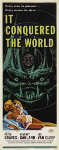 "Movie Posters:Science Fiction, It Conquered the World (American International, 1956). Insert (14""X 36""). The legendary Roger Corman produced and directed ..."